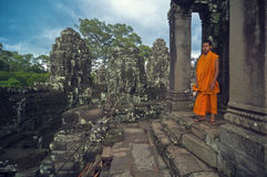 μοναχός angkor wat Στοκ φωτογραφία με δικαίωμα ελεύθερης χρήσης