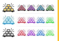 Μοναδικά γραμμικά εικονίδια ΔΙΣΕΚΑΤΟΜΜΥΡΙΟ της χρηματοδότησης, κατάθεση Σύγχρονη περίληψη Στοκ εικόνες με δικαίωμα ελεύθερης χρήσης