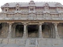 Μοναδικά χαρασμένα χέρι μνημεία σε Mahabalipuram Στοκ Φωτογραφίες