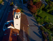 Μοναδική άποψη του χρόνου αποθηκών τραίνων Boise την άνοιξη Στοκ φωτογραφία με δικαίωμα ελεύθερης χρήσης