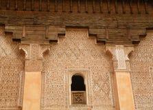 Μοναδική αρχιτεκτονική στο Μαρακές στοκ εικόνα