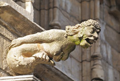 Γοργόνα Gargoyle από το μεσαιωνικό Δημαρχείο στοκ φωτογραφία