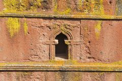 Μοναδική μονολιθική βράχος-κομμένη εκκλησία του ST George, παγκόσμια κληρονομιά της ΟΥΝΕΣΚΟ, Lalibela, Αιθιοπία στοκ εικόνες με δικαίωμα ελεύθερης χρήσης