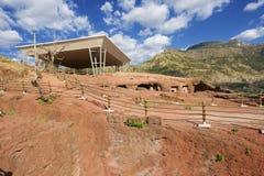 Μοναδική μονολιθική βράχος-κομμένη εκκλησία, Lalibela, Αιθιοπία Περιοχή παγκόσμιων κληρονομιών της ΟΥΝΕΣΚΟ στοκ εικόνες