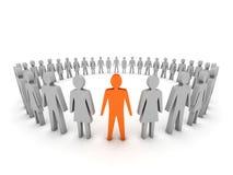 Μοναδικός. Ομάδα ανθρώπων. απεικόνιση αποθεμάτων