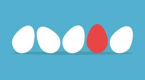 Μοναδικό αυγό στη σειρά Στοκ Εικόνα
