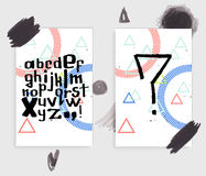 Μοναδικό διανυσματικό λατινικό αλφάβητο Στοκ φωτογραφία με δικαίωμα ελεύθερης χρήσης