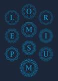 Μονογραμμάτων γραφικό σχέδιο συνόλου λογότυπων διανυσματικό Στοκ φωτογραφίες με δικαίωμα ελεύθερης χρήσης