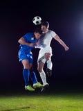 Μονομαχία ποδοσφαιριστών Στοκ εικόνα με δικαίωμα ελεύθερης χρήσης