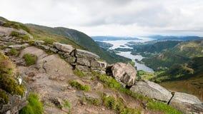 μονοπάτι βουνών Στοκ Εικόνες