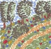 μονοπάτι πάρκων Διανυσματική απεικόνιση