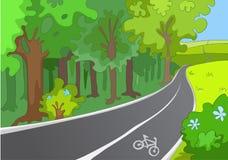 Μονοπάτι ποδηλάτων διανυσματική απεικόνιση