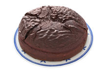 μονοπάτι ψαλιδίσματος σοκολάτας κέικ στοκ εικόνες