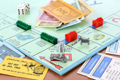 Μονοπωλιακό επιτραπέζιο παιχνίδι Στοκ Φωτογραφίες