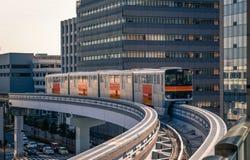 Μονοτρόχιος σιδηρόδρομος σε Tachikawa, Ιαπωνία στοκ εικόνες
