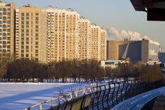 Μονοτρόχιος σιδηρόδρομος στη Μόσχα το χειμώνα Στοκ Εικόνες