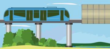 Μονοτρόχιος σιδηρόδρομος Στοκ Εικόνες