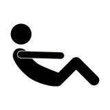Μονοχρωματικά συλλεχθε'ντα ABS πόδια άσκησης ατόμων Στοκ φωτογραφία με δικαίωμα ελεύθερης χρήσης