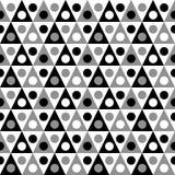 Μονοχρωματική άνευ ραφής σύσταση τριγώνων και σημείων απεικόνιση αποθεμάτων