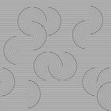 Μονοχρωματική ανασκόπηση ριγωτή loopy κορδέλλα Στοκ φωτογραφία με δικαίωμα ελεύθερης χρήσης