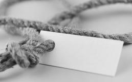 Μονοχρωματική αυτοκόλλητη ετικέττα φωτογραφιών με το παχύ πλεγμένο έγγραφο σχοινιών και σκαφών Στοκ Εικόνες