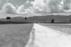 Μονοχρωματική εικόνα στο οδικό επίπεδο Στοκ Φωτογραφίες