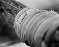 Μονοχρωματική μακρο περίληψη της λαβής σπάγγου στοκ εικόνες με δικαίωμα ελεύθερης χρήσης