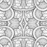 Μονοχρωματικό άνευ ραφής σχέδιο κεραμιδιών, φανταχτερό καλειδοσκόπιο ελεύθερη απεικόνιση δικαιώματος