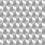 Μονοχρωματικό άνευ ραφής σχέδιο κύβων διανυσματική απεικόνιση