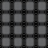Μονοχρωματικό άνευ ραφής σχέδιο με το ενδιαφέρον δικτυωτό πλέγμα απεικόνιση αποθεμάτων