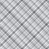 Μονοχρωματικό γκρίζο άνευ ραφής ελεγμένο διαγώνιο ornam ταρτάν σχεδίων ελεύθερη απεικόνιση δικαιώματος