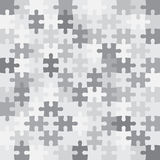 Μονοχρωματικό μωσαϊκό κομματιών γρίφων Στοκ φωτογραφία με δικαίωμα ελεύθερης χρήσης