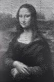 Μονοχρωματικό πορτρέτο έργου τέχνης της Mona Lisa Στοκ Εικόνες