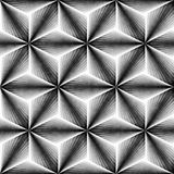 μονοχρωματικό πρότυπο άνε&ups Βρώμικη γεωμετρική επικεράμωση μορφών Στοκ Εικόνα