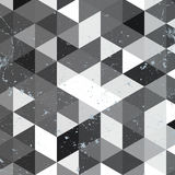 Μονοχρωματικό σχέδιο τριγώνων Γεωμετρικό αναδρομικό υπόβαθρο hipster με τη θέση για το κείμενό σας αναδρομικό τρίγωνο ανασκόπησης Στοκ Εικόνες