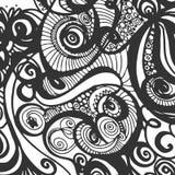 Μονοχρωματικό υπόβαθρο Doodle Διακόσμηση Minimalistic Στοκ Φωτογραφίες
