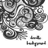 Μονοχρωματικό υπόβαθρο Doodle Διακόσμηση Minimalistic Στοκ εικόνες με δικαίωμα ελεύθερης χρήσης