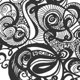 Μονοχρωματικό υπόβαθρο Doodle Στοκ φωτογραφία με δικαίωμα ελεύθερης χρήσης