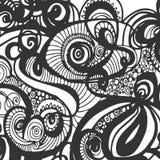 Μονοχρωματικό υπόβαθρο Doodle Στοκ Εικόνες