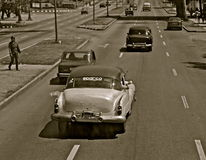 Μονο αυτοκίνητα σε μια οδό στην Αβάνα Στοκ φωτογραφία με δικαίωμα ελεύθερης χρήσης
