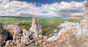 Μονο ηφαιστειακή τέφρα λιμνών, Καλιφόρνια Στοκ Εικόνες