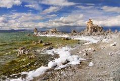 Μονο ηφαιστειακή τέφρα λιμνών, Καλιφόρνια Στοκ Εικόνα