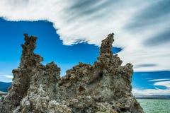 Μονο ηφαιστειακή τέφρα Castle λιμνών Στοκ Εικόνες