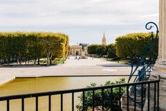 Μονπελιέ, Γαλλία - άποψη από Peyrou στοκ εικόνες