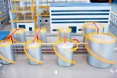 Μοντέλα οικοδόμησης γραμμών παραγωγής ενεργειακών εργοστασίων Στοκ εικόνα με δικαίωμα ελεύθερης χρήσης
