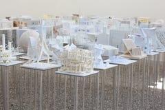 Μοντέλα σπουδαστών αρχιτεκτονικής Στοκ Εικόνες
