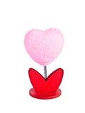 Μοντέλο ενός καρδιά-διαμορφωμένου ρόδινου μνημείου λουλουδιών. στοκ εικόνες με δικαίωμα ελεύθερης χρήσης