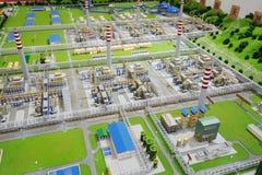 Μοντέλο εργοστασίου επεξεργασίας φυσικού αερίου ομάδας Sinopec Στοκ εικόνα με δικαίωμα ελεύθερης χρήσης