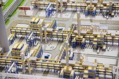 Μοντέλο εργοστασίου επεξεργασίας φυσικού αερίου ομάδας Sinopec Στοκ Εικόνες