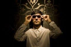 Μοντέλο με τα γυαλιά ηλίου Στοκ Φωτογραφίες